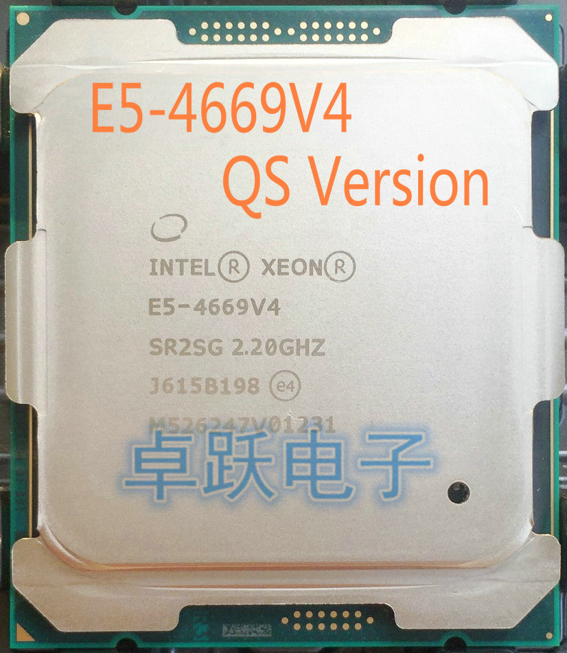 E5 4669v4 Original Intel Xeon Qs Version E5 4669v4 2 20ghz 55m 22cores 14nm Lga2011 3 135w Processor E5 4669 V4 Free Shipping Intel Xeon Xeon Intelintel Xeon Processor Aliexpress