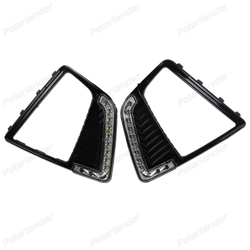2 шт автомобиль светодиодные поворотники свет аксессуар для ч/сплав yundai IX25 2014-2015 DRL дневные ходовые огни