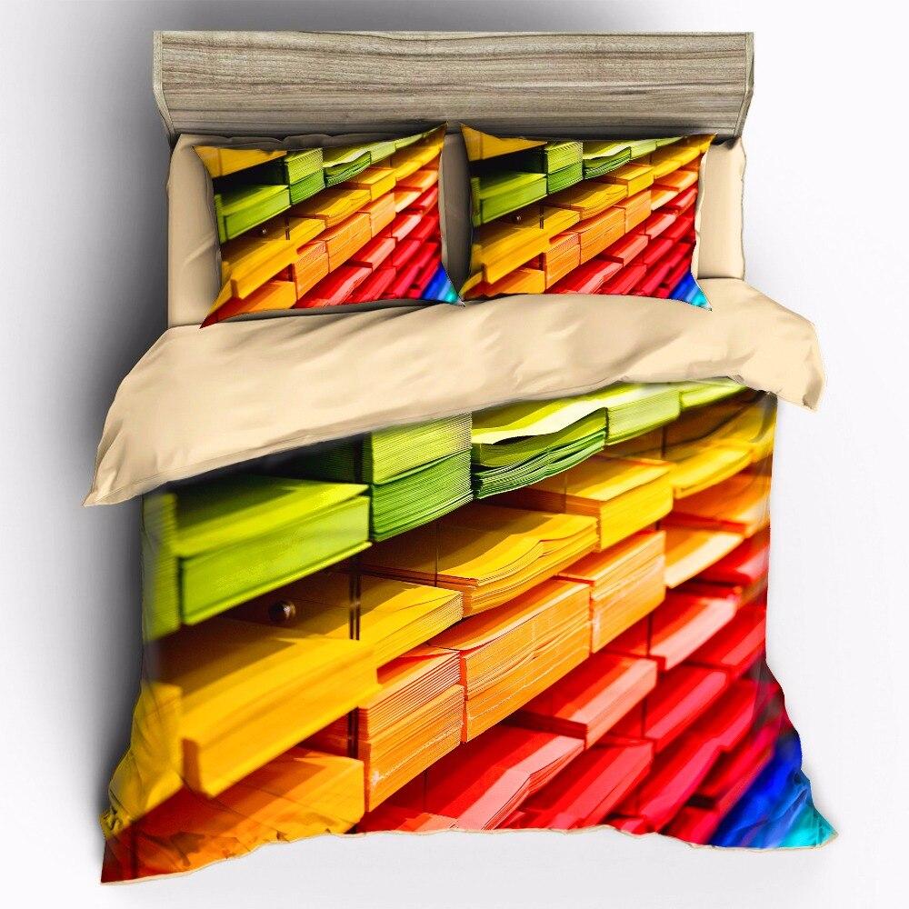 AHSNME Color Bookshelf Bedding Sets Duvet Cover pillowcase setAHSNME Color Bookshelf Bedding Sets Duvet Cover pillowcase set