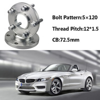2pcs 5x120 72.5CB Centric Wheel Spacer Hubs M12*1.5 Bolts For BMW E85 E82 E87 E89 E81 E36 E30 E65 E60 E64 E66 E46 E86 E52