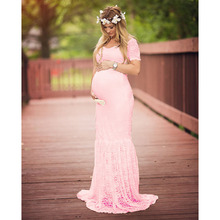 Maternity Gown Lace Maxi Dress