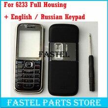 efdb84aa5ba HKFASTEL para Nokia 6233 nuevo alta calidad completa cubierta de la carcasa  del teléfono móvil + Inglés/ruso Teclado + con númer.