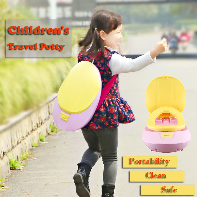 e3e60a2b93b US $44.57 |2016 Pot Children's toilet Baby Potty New children travel small  portable toilet Seat Kids travel outdoor potty trainers toilet-in Potties  ...