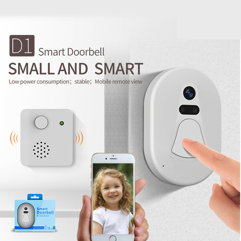 Spetu Door Bell Door Camera Wi-Fi Doorbell Door Viewer Free Cloud Storage Photo Security Night Vision Mobile Phone Remote View