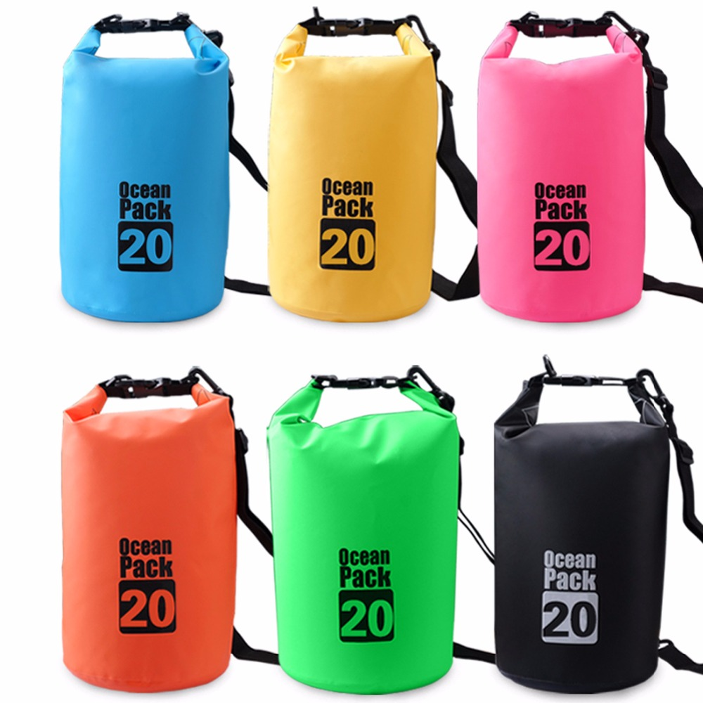 Panegy 20L Professional Dry Bag Outdoor Camping Rafting Storage Waterproof Bags PVC Ultralight Floating Canoeing Swimming Sack