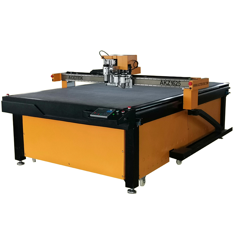 1325 1625 Auto Feeding CNC Vibrating Knife/Round Knife Oscillating Blade Cutting Machine For Pu,leather,textile,cardboard