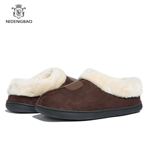 Image 4 - Winter Womens Slippers Big Size 35 50 Lovers Fur Slides Plush Flat Shoes Female Soft Home Keep Warm Cotton Shoes Casual Unisex