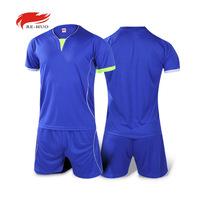 New High Quality Mens Soccer Jersey Sets Boys Short Sleeve Blank Jersey Paintless Training Football Sets