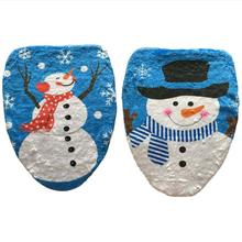 2 Style Choice 1 Pcs Snowman Toilet Seat Cover Toilet lid New Year Xmas Christmas Decoration AU366