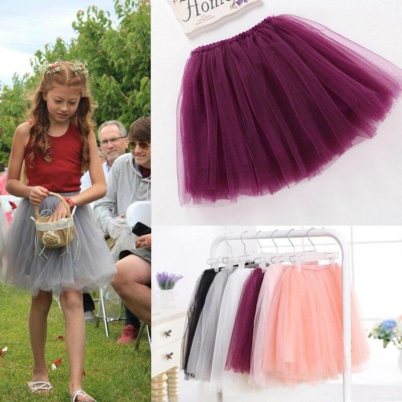 summer lovely fluffy soft tulle baby girls tutu skirt pettiskirt 14 colors girls skirts for 6M-14Yrs kids mother daughter skirts 5