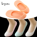 Leyou 1 Pair Unisex Silicon Moisturizing Socks Gel Heel Socks Cracked Foot Skin Care Socks Non Slip