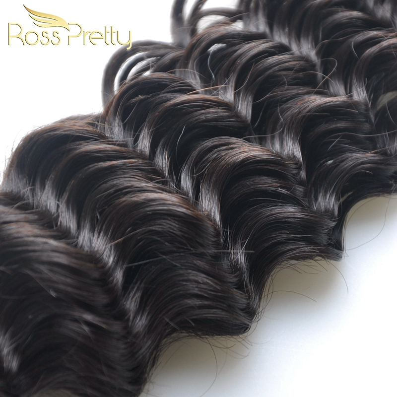 Quality Deep Wave Hair weft 3pcs Ross Pretty Brand Nature Brazilian Remy Human Hair extension soft and silky Tangle Free