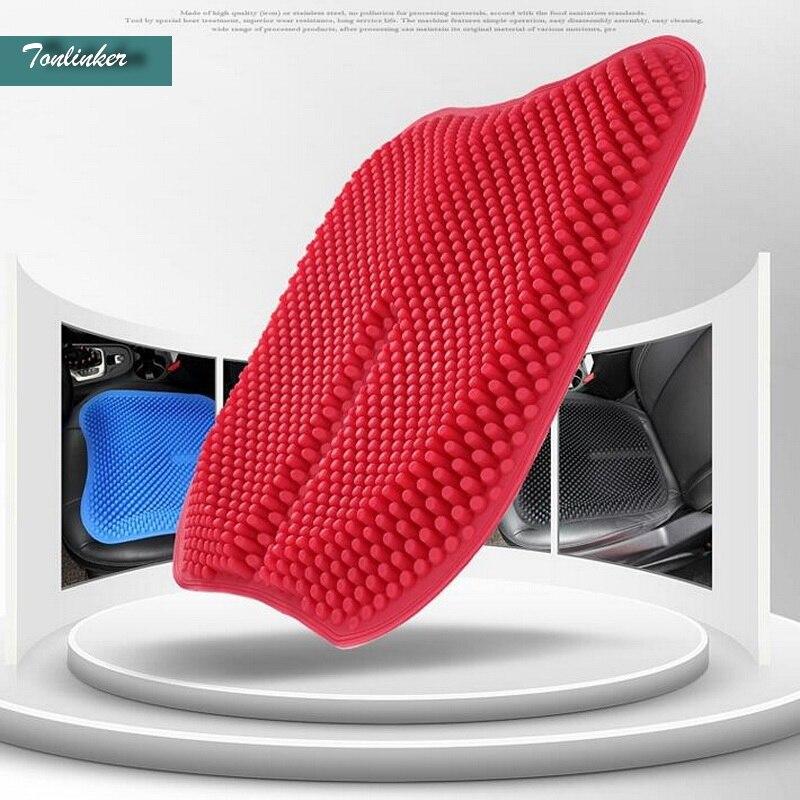 Tonlinker 1 шт. 3D зернистость стайлинга автомобилей Силиконовый Универсальный вентиляции сиденья и поддерживает для Ford/Toyota/benz /Nissan/VW т. д.