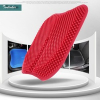 Tonlinker 1pcs 3D Graininess Car styling Silicone Universal ventilation Seat cover & Supports For Ford/Toyota/Benz/Nissan/VW ECT
