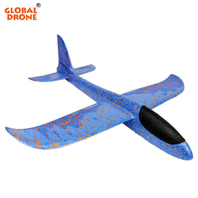 Global Drone Throwing Glider Aircraft Airplane Toy Foam EVA Airplane Hand Launch Throwing Glider Outdoor Toys