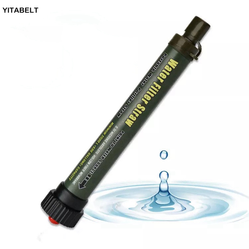 Portable Purifier Water Filter Straw Camping Hiking Emergency Survival Tool