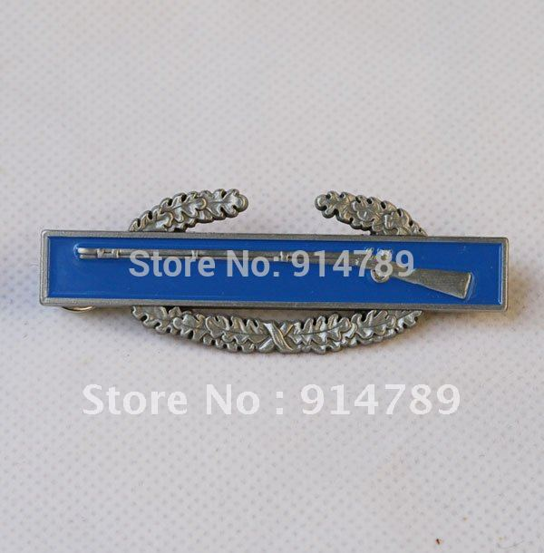 WW2 US USA MILITARY ARMY COMBAT INFANTRY BADGE METAL -32061