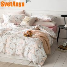 Svetanya Cotton Bedding Set single double Bed Linens simple Style bedding set double tango 684 50