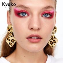 купить Kyoko 2019 Fashion Earrings Design Leopard Earrings Striped Earrings Geometric Earrings boho For Women Vintage Jewelry по цене 329.32 рублей