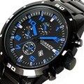 Curren Novo Esporte Quartz Horas Data de Exibição dos homens Relógio Moda masculina Relógio de Aço Inoxidável Masculino relógio de Pulso Casual