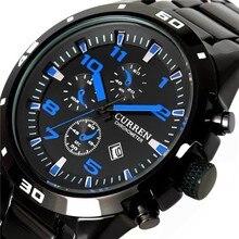 Curren Neue Sport Quarz Stunden Datum Display männer Uhr männer Mode Edelstahl Uhr Männlichen Casual Armbanduhr
