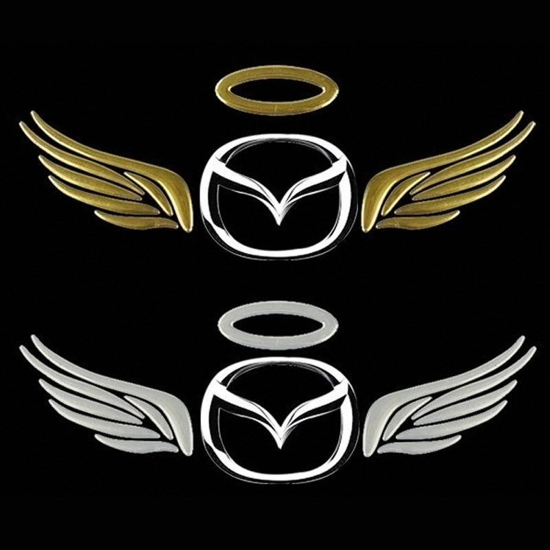 100pcs 3d Car Styling Motorcycle Stickers Animal Wing Emblem Truck