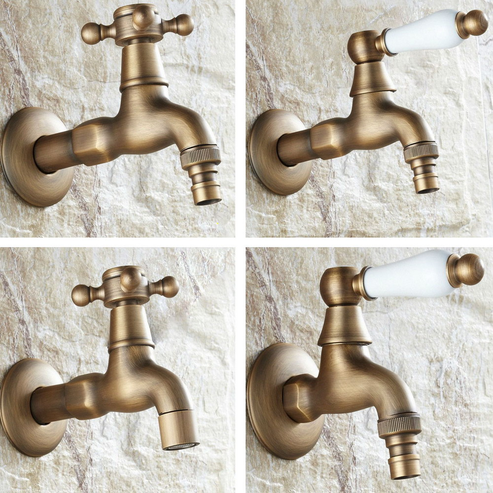 Bathroom Fixtures Bathroom Sinks,faucets & Accessories Genteel Antique Brass Single Handle Washer Faucet Wall Mounted Laundry Bathroom Kitchen Mop Water Tap Washing Machine Faucet Aavx001 A Complete Range Of Specifications