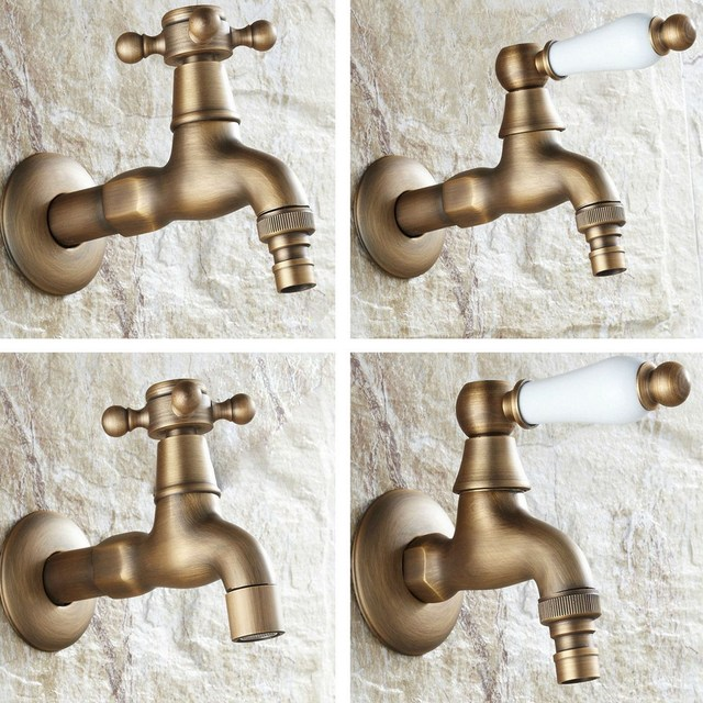 Antique Brass Single Handle washer faucet wall mounted Laundry Bathroom Kitchen Mop Water Tap Washing Machine Faucet aavx001