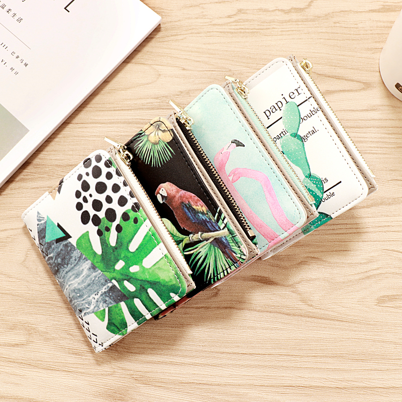 Female Wallet Card-Holder Short Lady Purse Zipper Quality Women Hasp And
