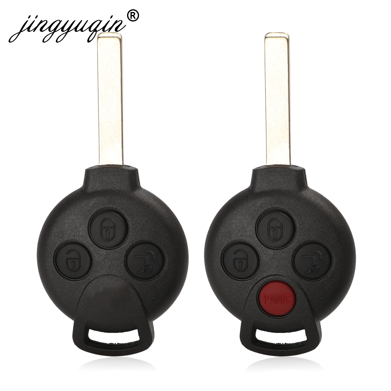 jingyuqin New Remote Key Case Cover 3/4 Buttons For MERCEDES BENZ <font><b>MB</b></font> Smart Keyless Entry Fob Car Key Shell image
