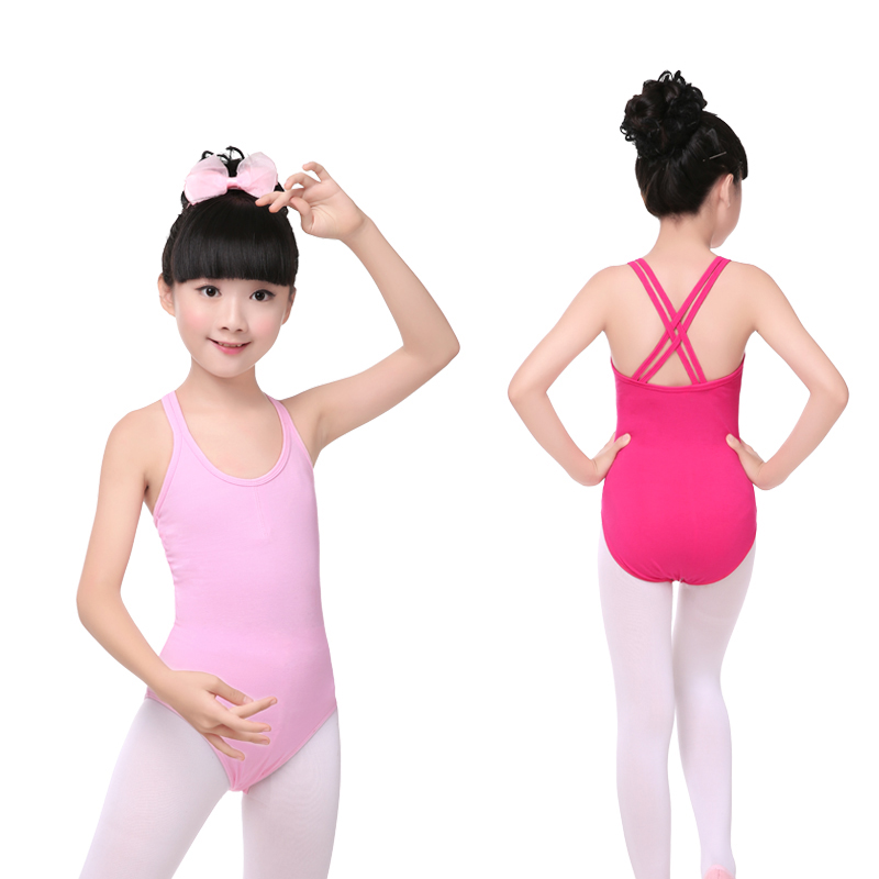 Ballet Dance Camisole Leotard Children Kids Double Strap Back Gymnastics Leotard For Girls