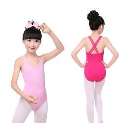 Ballet Dance Camisole Leotard Children Kids Double Strap Back Gymnastics Leotard For Girls Swimwear Swimsuit 2021 Summer