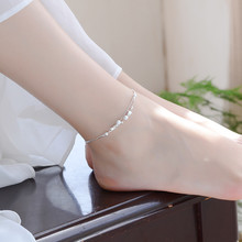 Silver Color Anklet and Bracelet to Choose Double Layer Star Beads Ankle Bracelet Sandals Beach Foot Jewelry for Women Wholesale