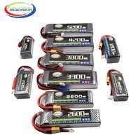 Nano Jouets RC Batterie LiPo 3S 11.1V 1300 1800 2200 2600 3300 4500 6000mAh 30C 40C 60C Pour Avion RC Drone Hélicoptère Batterie 3S