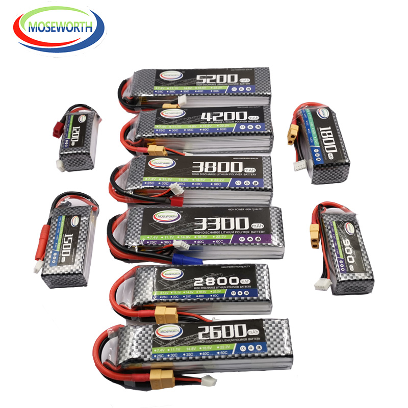 Nano RC Toys <font><b>LiPo</b></font> <font><b>Battery</b></font> <font><b>3S</b></font> 11.1V 1300 1800 2200 2600 3300 4500 <font><b>6000mAh</b></font> 30C 40C 60C For RC Airplane Drone Helicopter <font><b>Battery</b></font> <font><b>3S</b></font> image