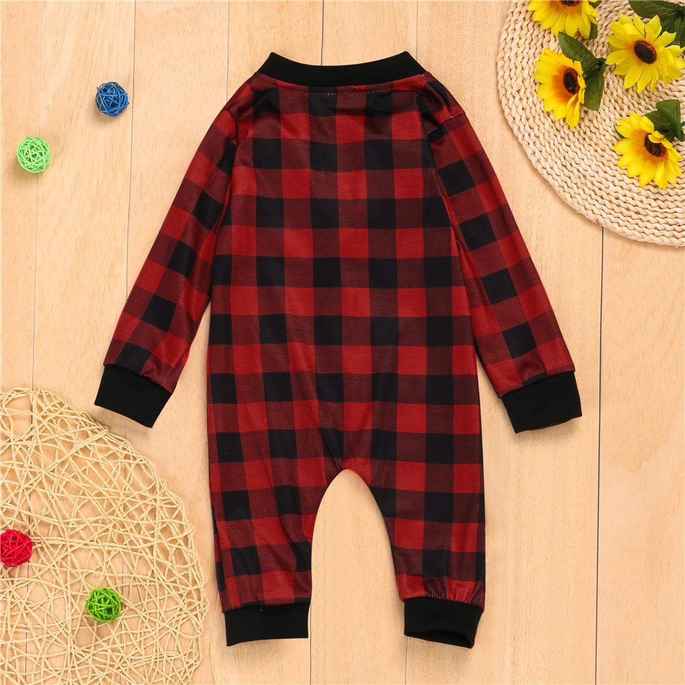 CHAMSGEND Baby Family Long Sleeve Plaid Print Jumpsuits Sets Sleepwear Nightwear Suits feminino rompers jumpsuit C3018