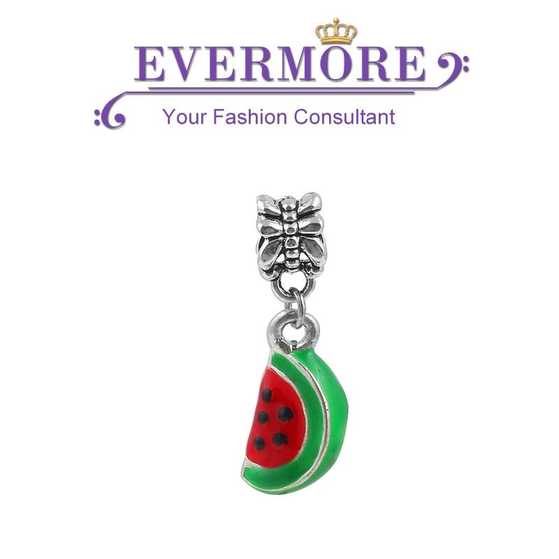 Cute Enamel Cherry Charms Pendants Fruit Beads fit Pandora Charm Bracelet Fashion Diy Jewelry