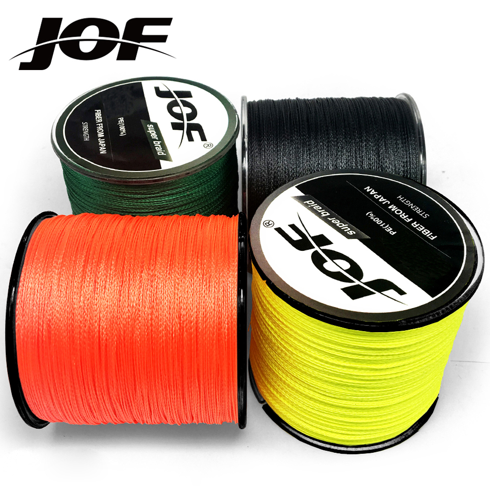 JOF 300M Multicolour PE Braided Wire 4 Strands Multifilament Japanese Fishing Line title=