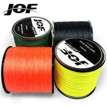 Jof 500m 300m 100 multicor pe trançado fio 8/4 fios linha de pesca japonesa multifilamento