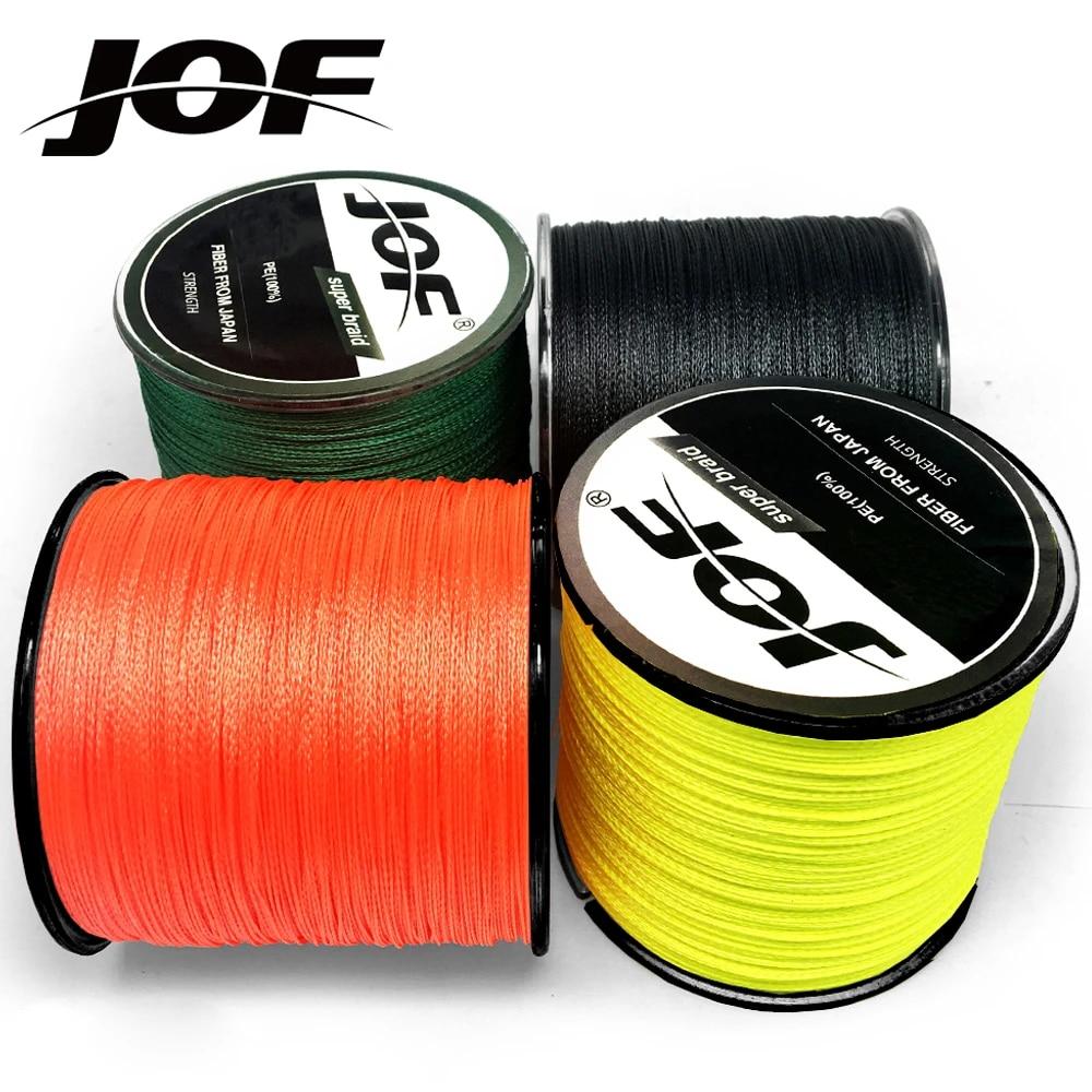 JOF 500M 300M 100M Multicolour PE Braided Wire 4 Strands Japanese Fishing Line