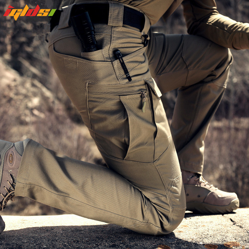 IGLDSI IX7 Military Urban Tactical Pants IX9 Men Spring Cotton SWAT Army Cargo Pants Casual EDC Pockets Soldier Combat Trousers men military tactical outdoor shirts 100% cotton breathable long sleeve shirt army multi pockets swat shooting urban sports