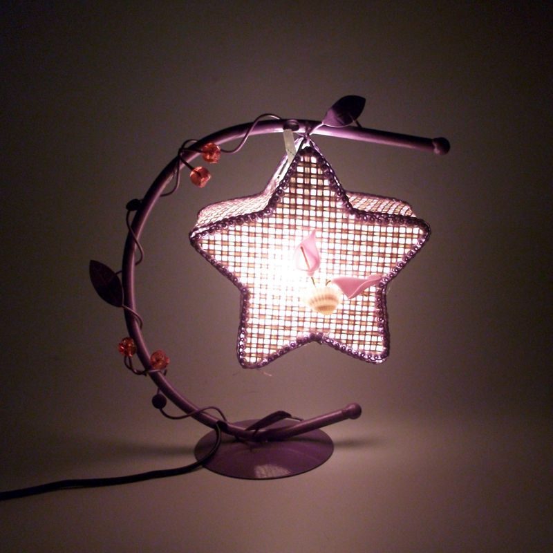 Creative Hollow Iron Lamps Bedroom Star Lamp Home Romantic