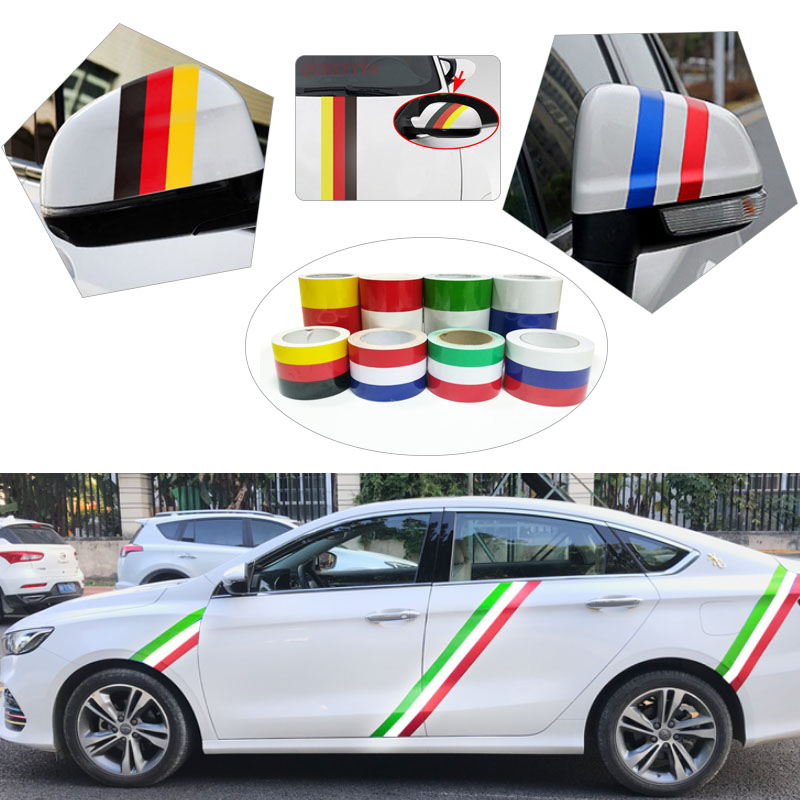 100cm X 15cm/7.5cm Car Styling Vinyl AUTO Flag Racing Strip Car Motorcycle Bike Decal Laptop Sticker Russia Italy France Germany