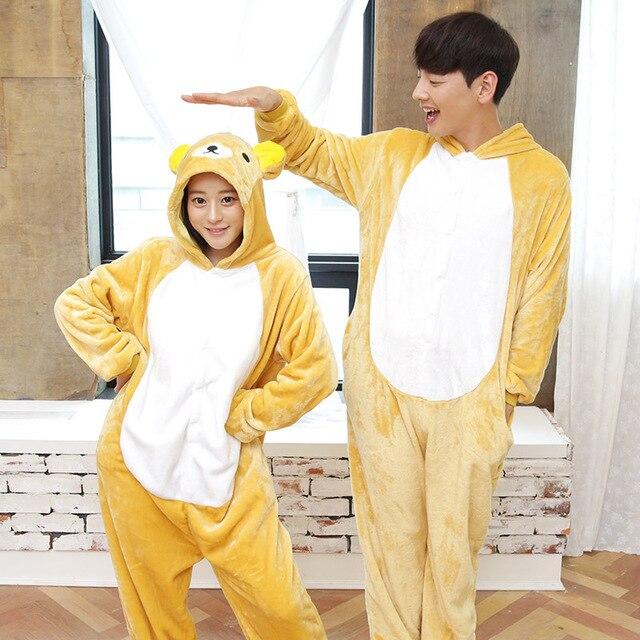 4177b8583c Envío Gratis Rilakkuma Animal trajes Cosplay disfraz pijama Onesie Pijamas  Pijama vestido de una pieza de