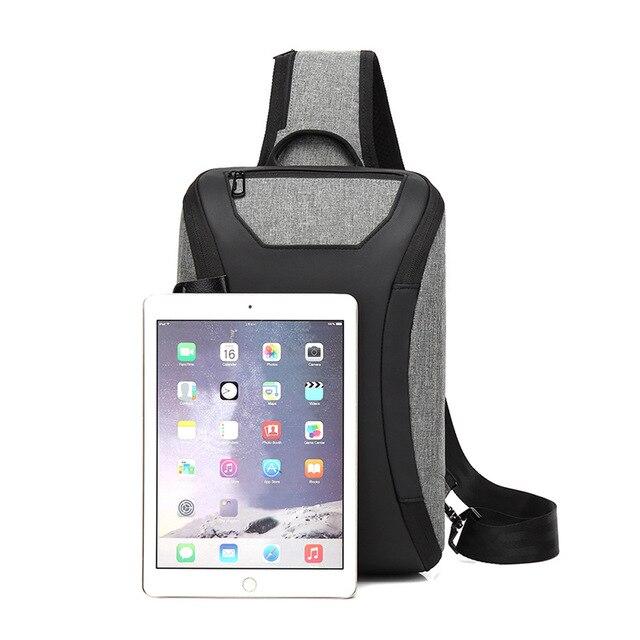 Casual Unisex Shoulder Crossbody Bag USB Charging
