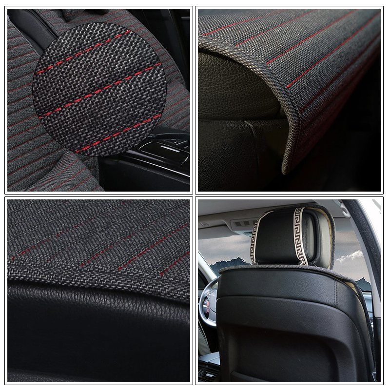 Image 3 - 1 piece O SHI CAR Seat Cushion Linen/Breathable Car Seat Cover Pad Fit Most auto,Truck,Inside Covers for cars Protect front seat-in Automobiles Seat Covers from Automobiles & Motorcycles