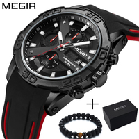 MEGIR Military Watch Men Luxury Brand Men's Fashion Silicone Sport Watches Boys Chronograph Quartz Wrist Watch Relogio Masculino