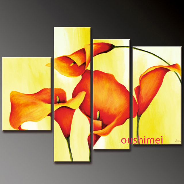 Aliexpress.com : Buy Hand Painted Abstract Pictures On Canvas ...