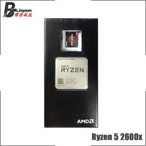 Image 4 - Процессор AMD Ryzen 5, 2600X Р5 2600X 3,6 ГГц, шесть ядер, двенадцать потоков CPU L3=16M 95 Вт YD260XBCM6IAF сокет АМ4, новый, с кулером