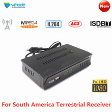ISDB-T TV Tuner Receiver HD Digital Terrestrial Signal Set-Top Box Support South America H.264 MPEG-2/4 FTA HDMI For Brazil Peru